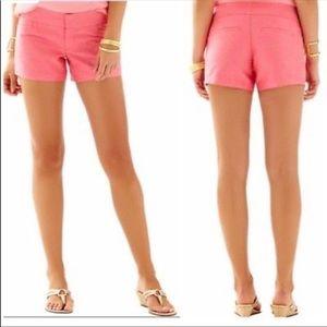 Lilly Pulitzer Pink Callahan Short Size 0